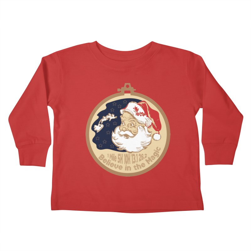 Santa's Big Day Kids Toddler Longsleeve T-Shirt by Moon Joggers's Artist Shop