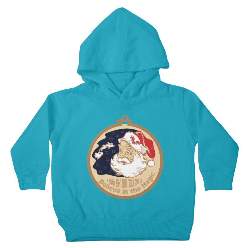 Santa's Big Day Kids Toddler Pullover Hoody by Moon Joggers's Artist Shop
