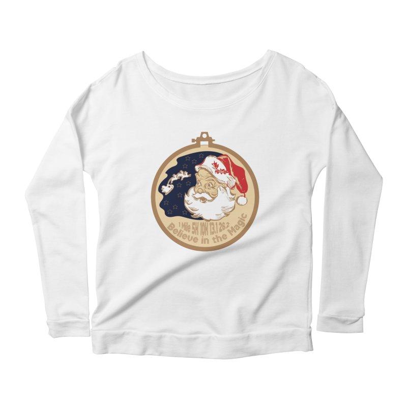 Santa's Big Day Women's Scoop Neck Longsleeve T-Shirt by Moon Joggers's Artist Shop