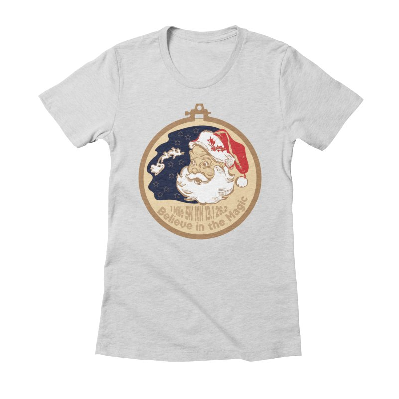Santa's Big Day Women's Fitted T-Shirt by Moon Joggers's Artist Shop