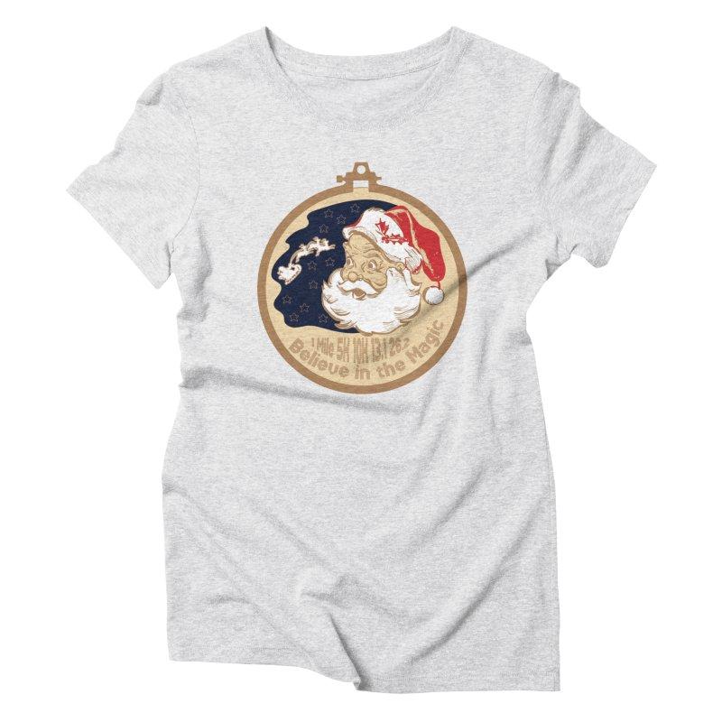 Santa's Big Day Women's Triblend T-Shirt by Moon Joggers's Artist Shop