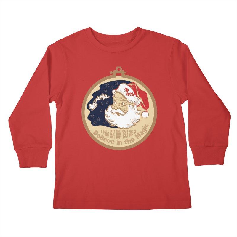 Santa's Big Day Kids Longsleeve T-Shirt by Moon Joggers's Artist Shop