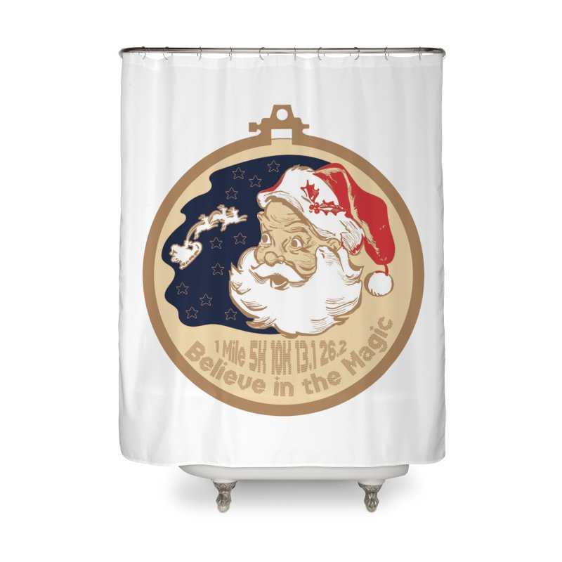 Santa's Big Day Home Shower Curtain by Moon Joggers's Artist Shop