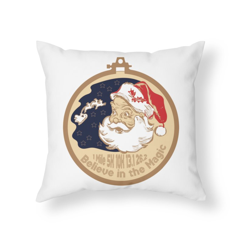 Santa's Big Day Home Throw Pillow by Moon Joggers's Artist Shop