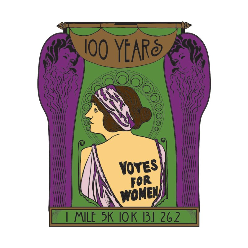 100 Years of Women's Suffrage by Moon Joggers's Artist Shop