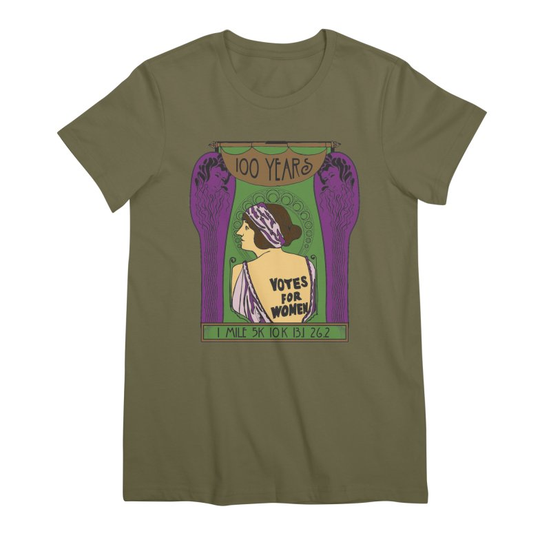 100 Years of Women's Suffrage Women's Premium T-Shirt by Moon Joggers's Artist Shop