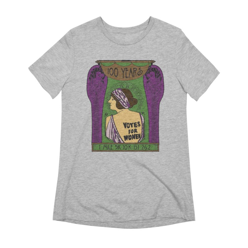 100 Years of Women's Suffrage Women's Extra Soft T-Shirt by Moon Joggers's Artist Shop
