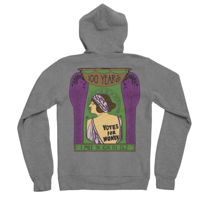 100 Years of Women's Suffrage Women's Sponge Fleece Zip-Up Hoody by Moon Joggers's Artist Shop