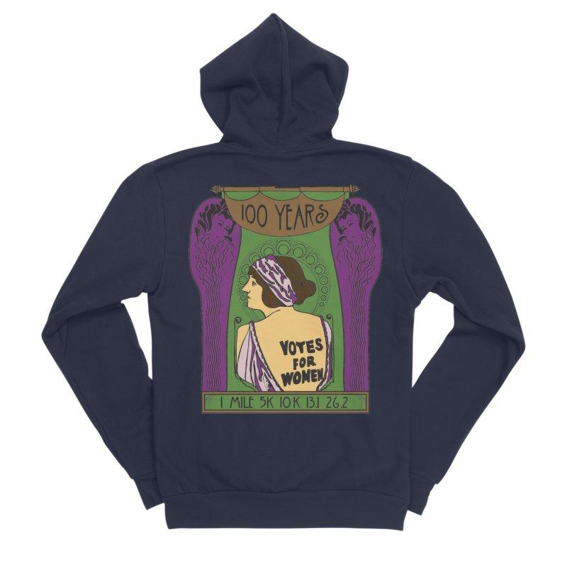 100 Years of Women's Suffrage Men's Sponge Fleece Zip-Up Hoody by Moon Joggers's Artist Shop
