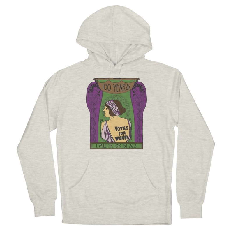 100 Years of Women's Suffrage Women's French Terry Pullover Hoody by Moon Joggers's Artist Shop