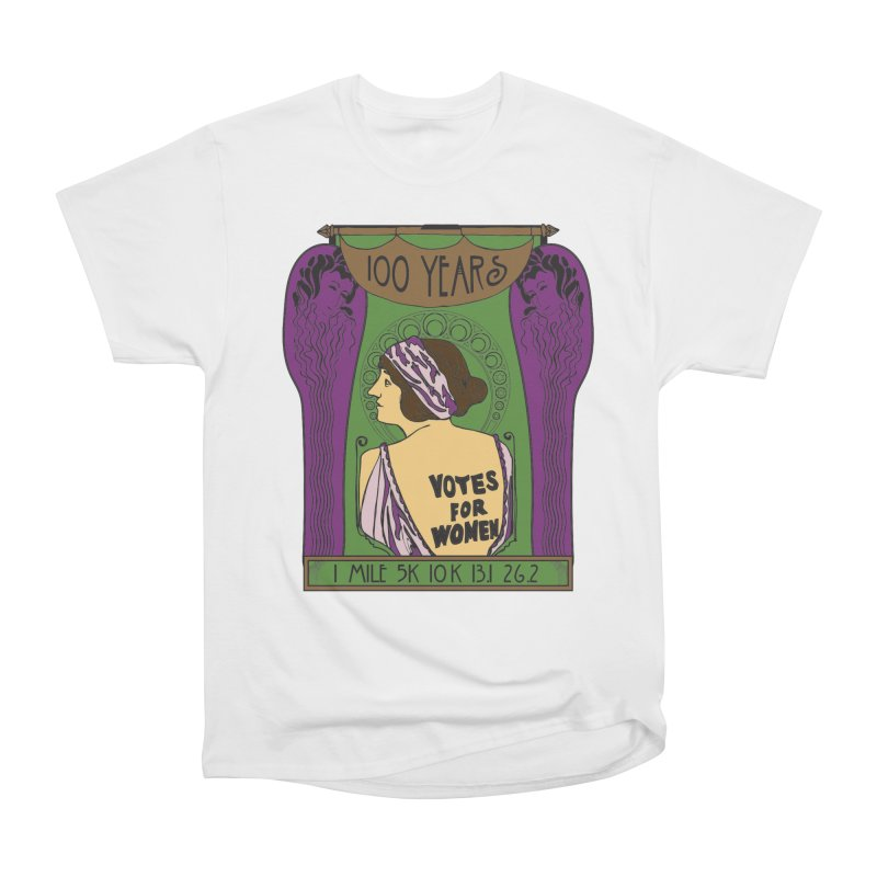 100 Years of Women's Suffrage Women's Heavyweight Unisex T-Shirt by Moon Joggers's Artist Shop