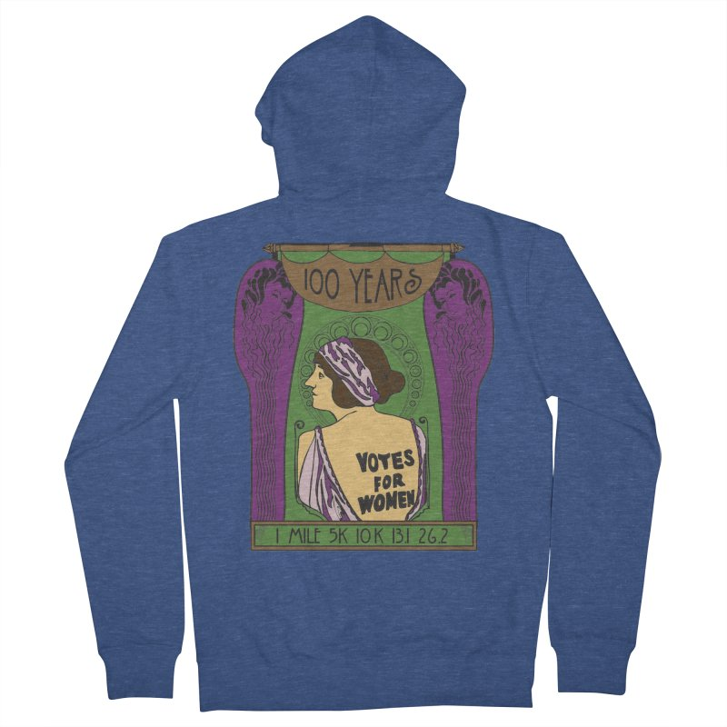 100 Years of Women's Suffrage Women's French Terry Zip-Up Hoody by Moon Joggers's Artist Shop