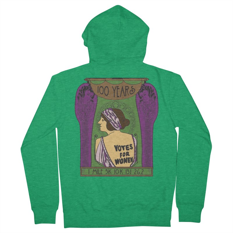100 Years of Women's Suffrage Men's French Terry Zip-Up Hoody by Moon Joggers's Artist Shop