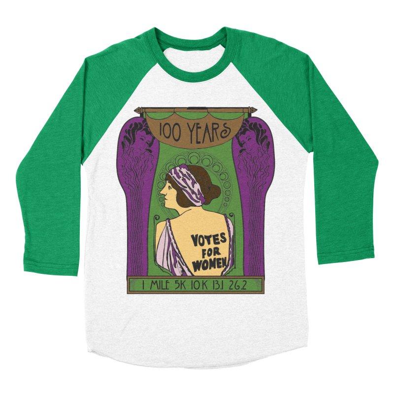 100 Years of Women's Suffrage Women's Baseball Triblend Longsleeve T-Shirt by Moon Joggers's Artist Shop