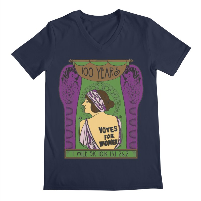 100 Years of Women's Suffrage Men's Regular V-Neck by Moon Joggers's Artist Shop