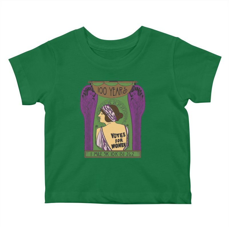 100 Years of Women's Suffrage Kids Baby T-Shirt by Moon Joggers's Artist Shop