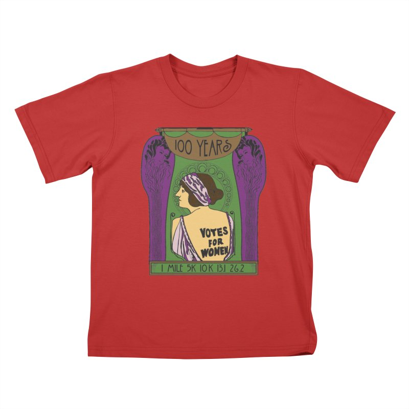 100 Years of Women's Suffrage Kids T-Shirt by Moon Joggers's Artist Shop