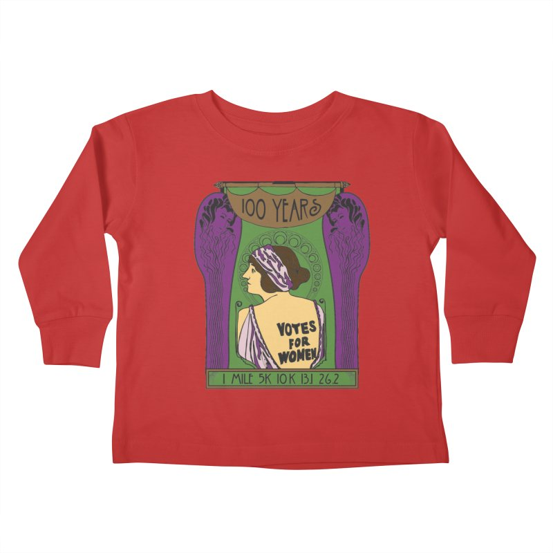 100 Years of Women's Suffrage Kids Toddler Longsleeve T-Shirt by Moon Joggers's Artist Shop