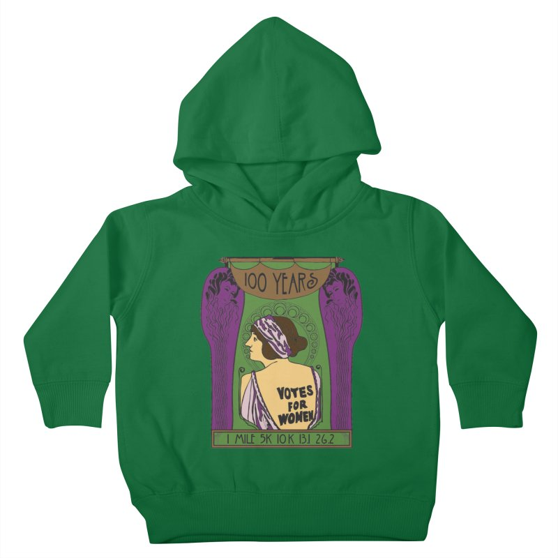 100 Years of Women's Suffrage Kids Toddler Pullover Hoody by Moon Joggers's Artist Shop