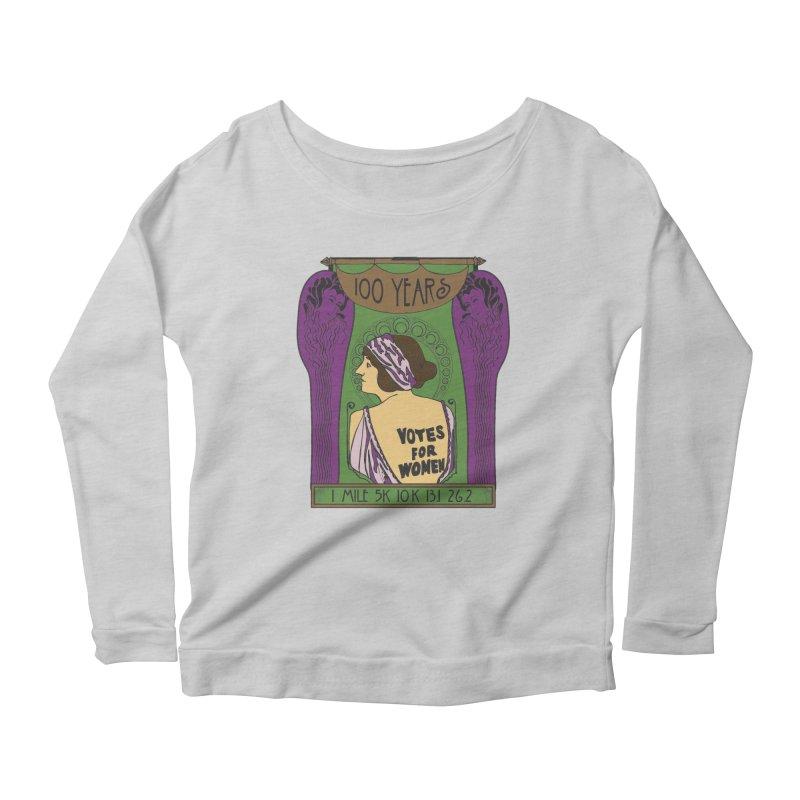 100 Years of Women's Suffrage Women's Scoop Neck Longsleeve T-Shirt by Moon Joggers's Artist Shop