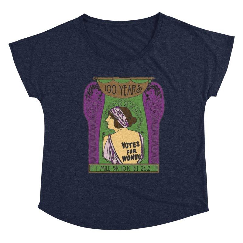 100 Years of Women's Suffrage Women's Dolman Scoop Neck by Moon Joggers's Artist Shop