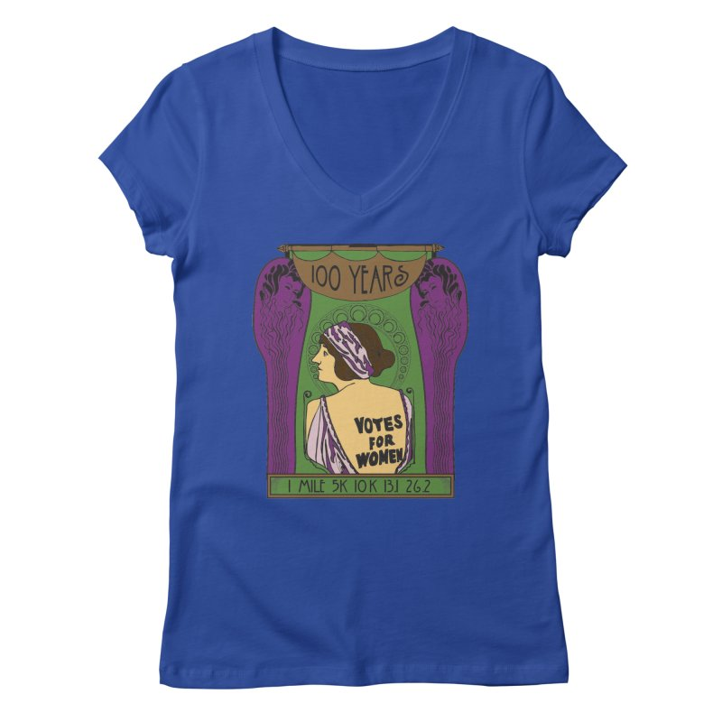 100 Years of Women's Suffrage Women's Regular V-Neck by Moon Joggers's Artist Shop