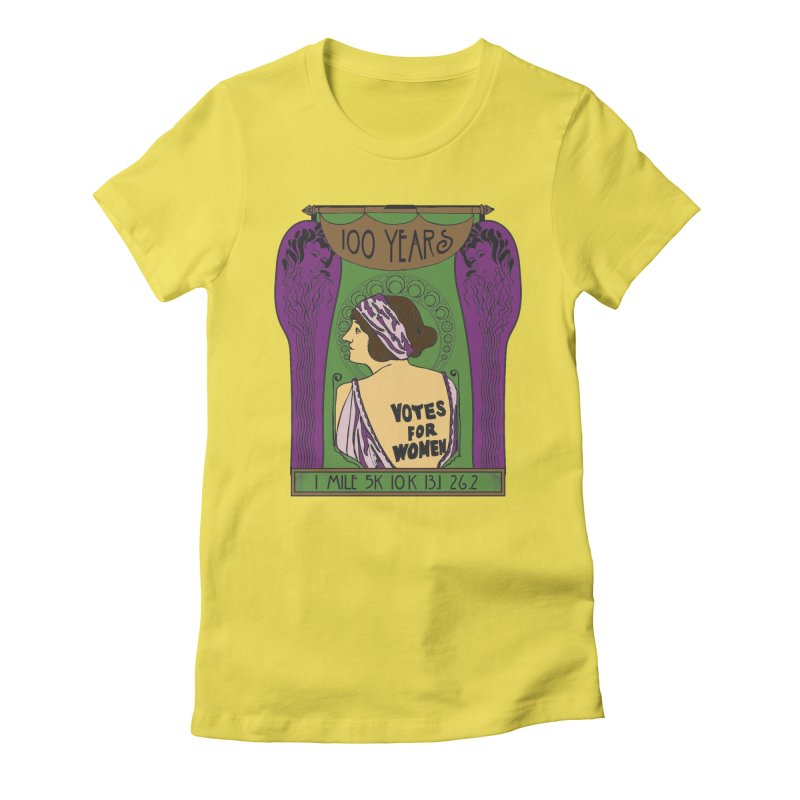 100 Years of Women's Suffrage Women's Fitted T-Shirt by Moon Joggers's Artist Shop