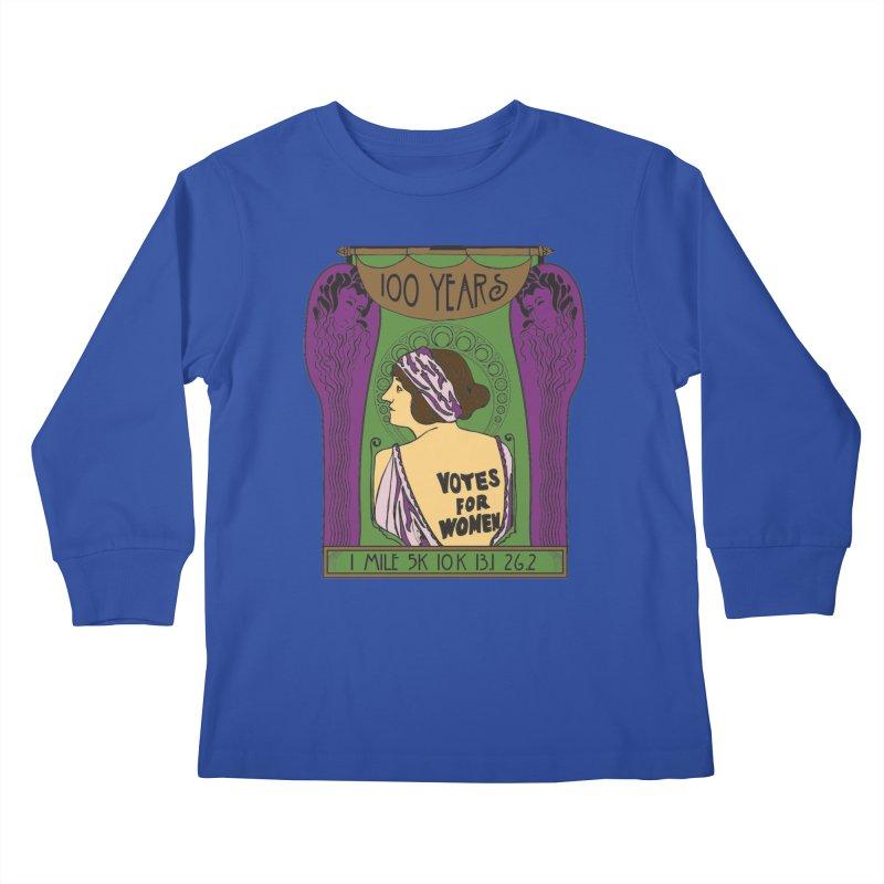100 Years of Women's Suffrage Kids Longsleeve T-Shirt by Moon Joggers's Artist Shop