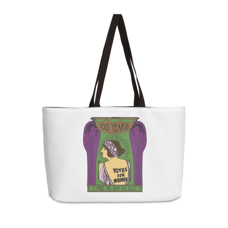 100 Years of Women's Suffrage Accessories Weekender Bag Bag by Moon Joggers's Artist Shop