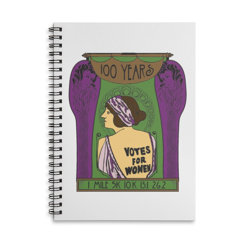 100 Years of Women's Suffrage Accessories Lined Spiral Notebook by Moon Joggers's Artist Shop
