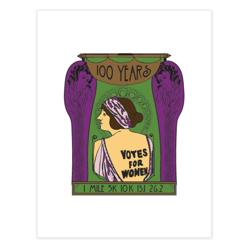 100 Years of Women's Suffrage Home Fine Art Print by Moon Joggers's Artist Shop