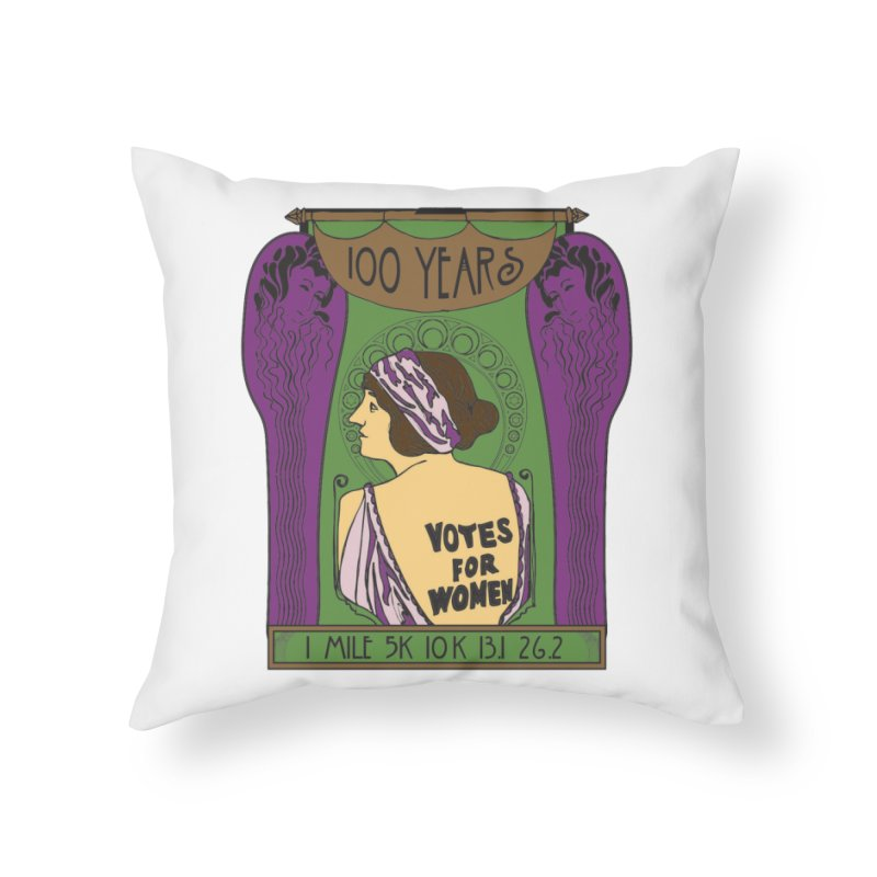100 Years of Women's Suffrage Home Throw Pillow by Moon Joggers's Artist Shop