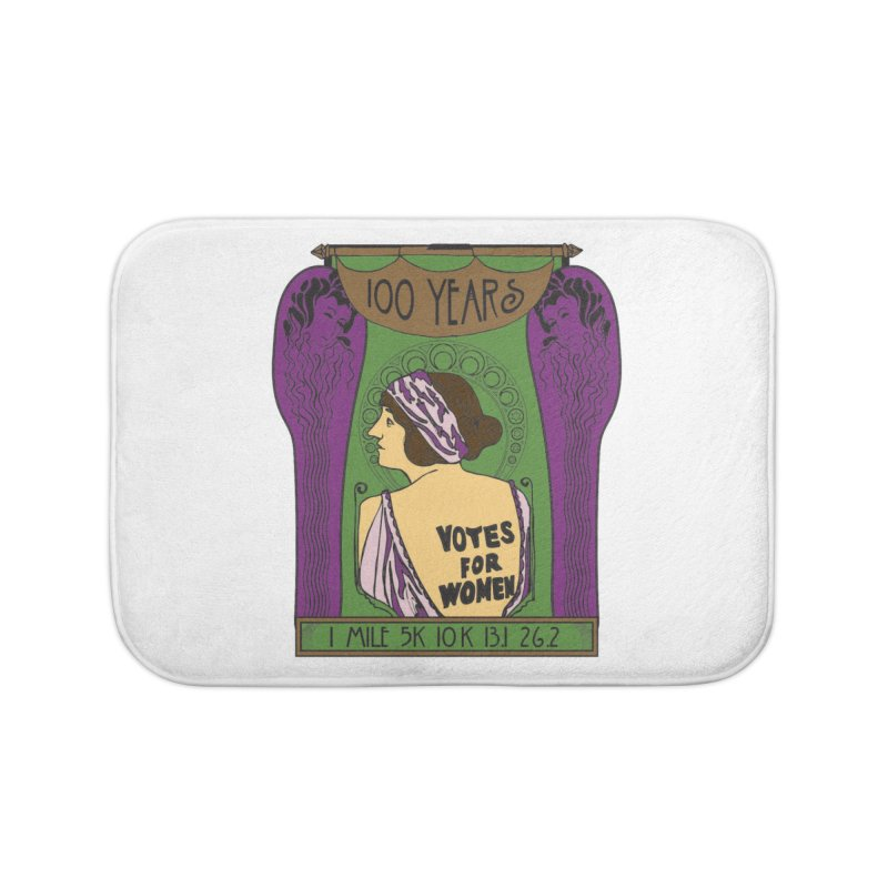 100 Years of Women's Suffrage Home Bath Mat by Moon Joggers's Artist Shop