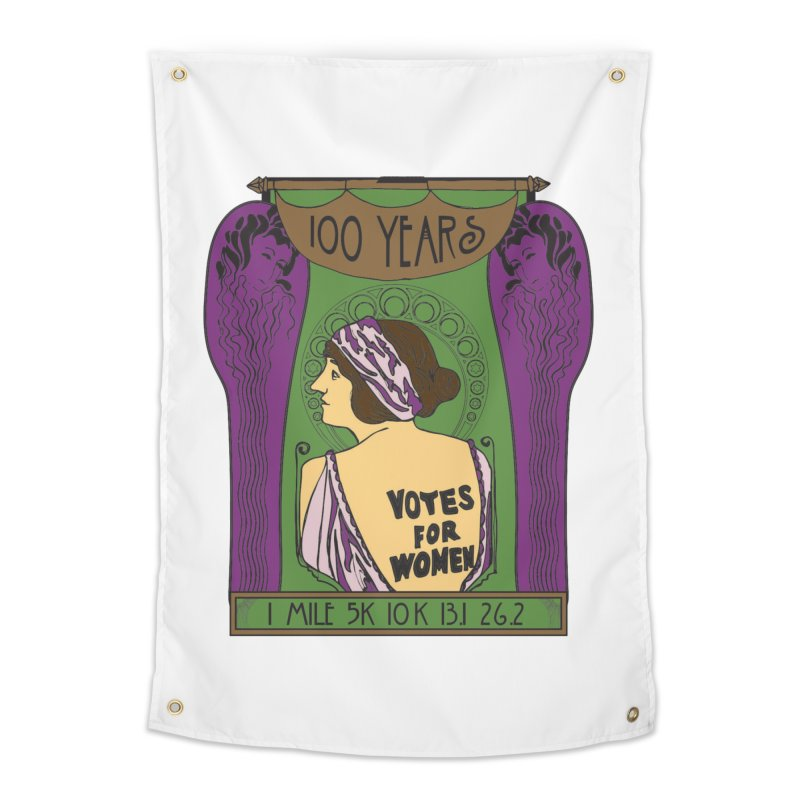 100 Years of Women's Suffrage Home Tapestry by Moon Joggers's Artist Shop