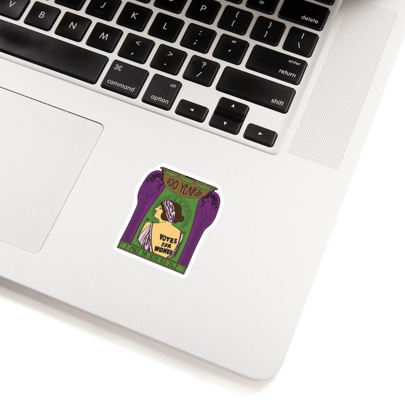 100 Years of Women's Suffrage Accessories Sticker by Moon Joggers's Artist Shop