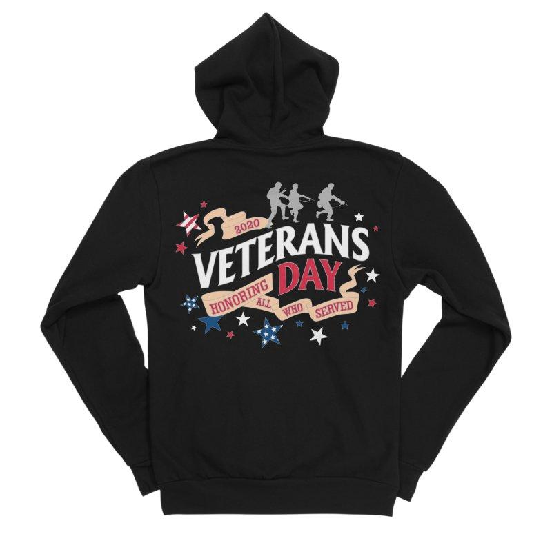 Veterans Day Women's Sponge Fleece Zip-Up Hoody by Moon Joggers's Artist Shop