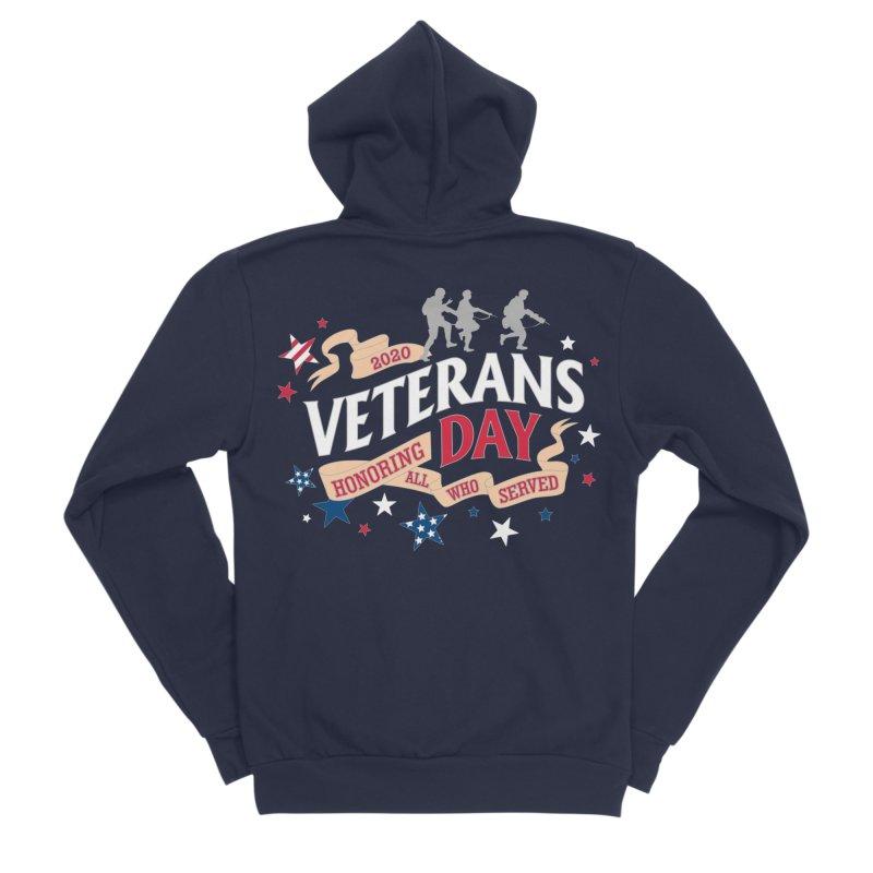 Veterans Day Men's Sponge Fleece Zip-Up Hoody by Moon Joggers's Artist Shop