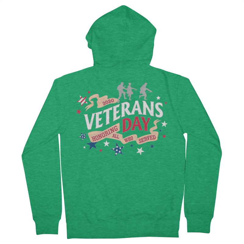 Veterans Day Women's French Terry Zip-Up Hoody by Moon Joggers's Artist Shop