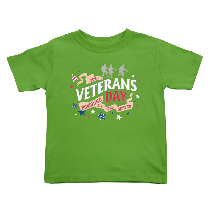 Veterans Day Kids Toddler T-Shirt by Moon Joggers's Artist Shop