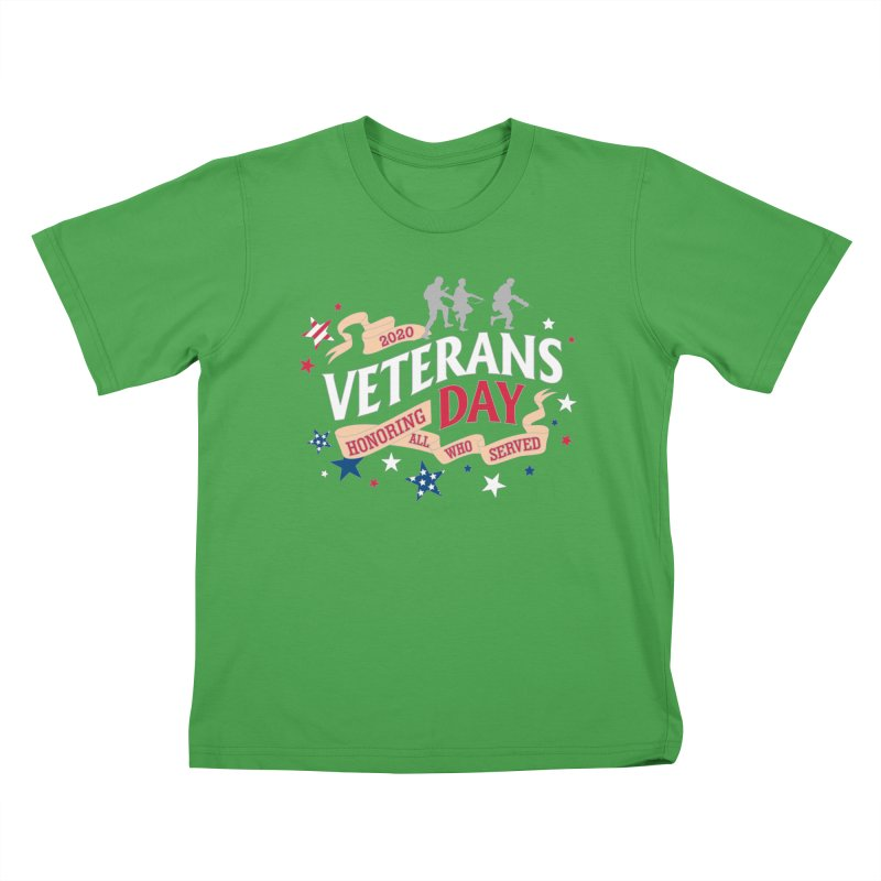 Veterans Day Kids T-Shirt by Moon Joggers's Artist Shop