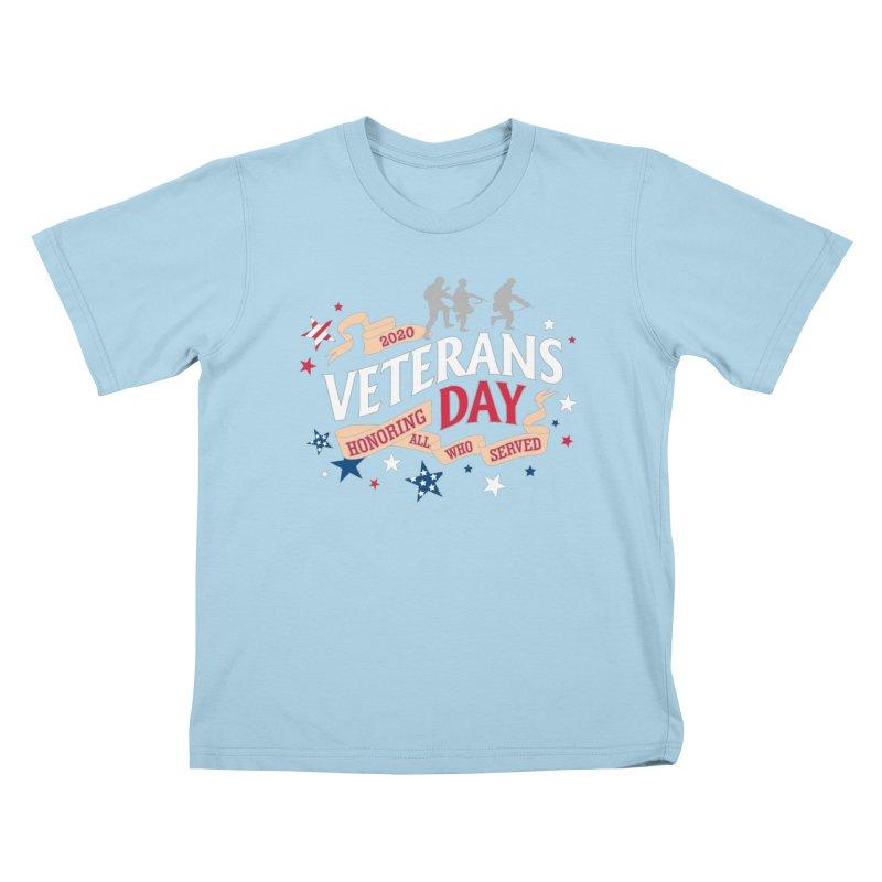 Veterans Day Kids T-Shirt by Moon Joggers's Artist Shop