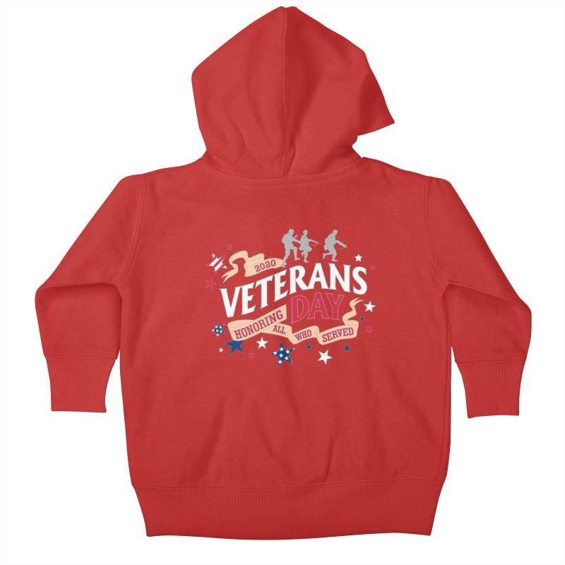 Veterans Day Kids Baby Zip-Up Hoody by Moon Joggers's Artist Shop