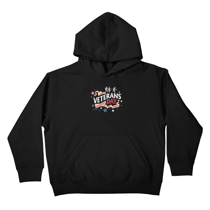 Veterans Day Kids Pullover Hoody by Moon Joggers's Artist Shop