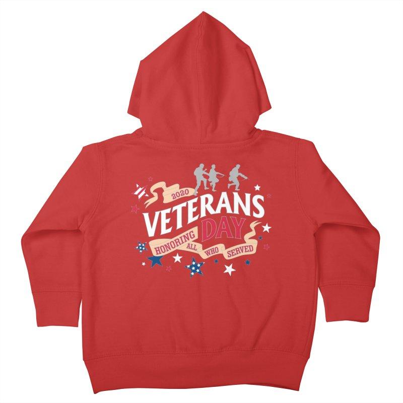 Veterans Day Kids Toddler Zip-Up Hoody by Moon Joggers's Artist Shop