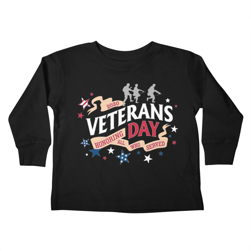 Veterans Day Kids Toddler Longsleeve T-Shirt by Moon Joggers's Artist Shop