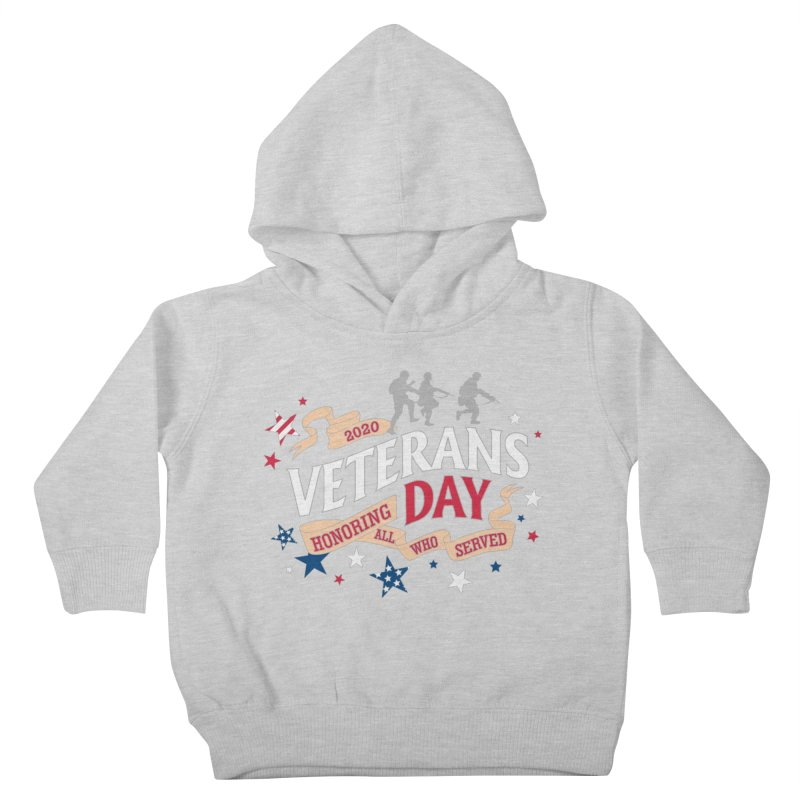Veterans Day Kids Toddler Pullover Hoody by Moon Joggers's Artist Shop
