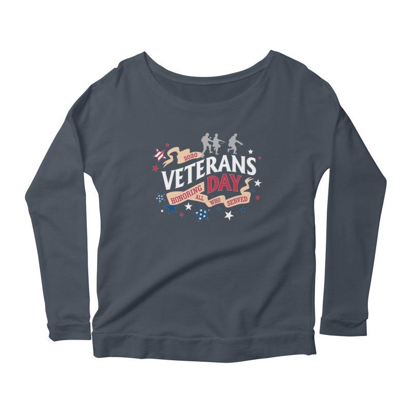 Veterans Day Women's Scoop Neck Longsleeve T-Shirt by Moon Joggers's Artist Shop