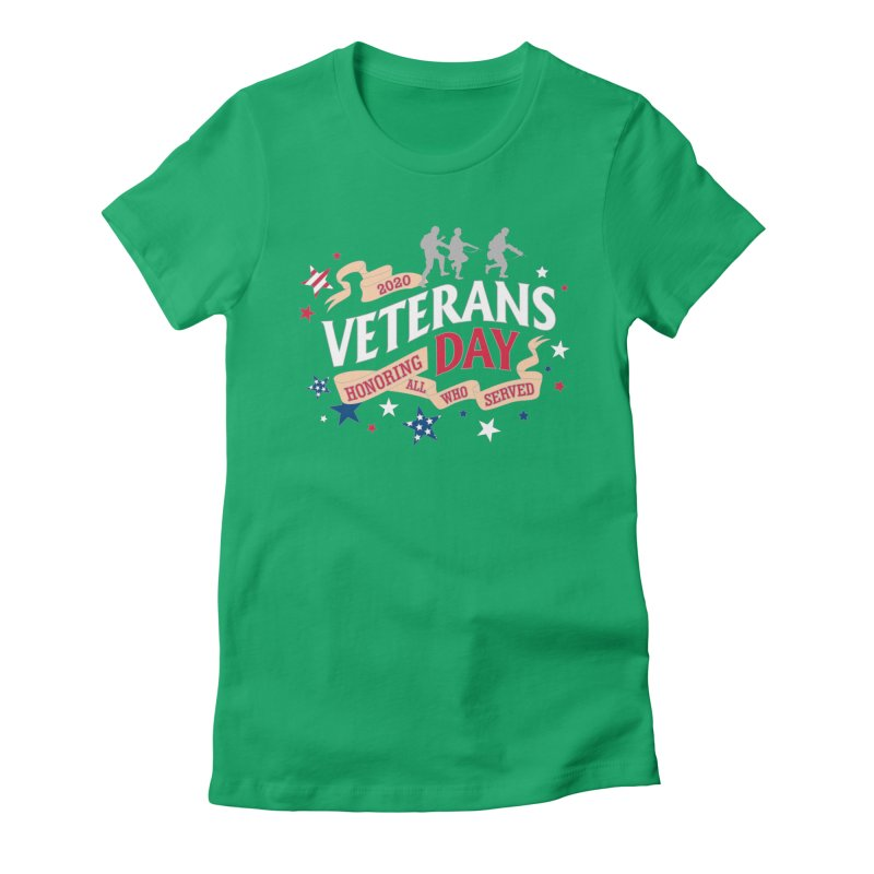Veterans Day Women's Fitted T-Shirt by Moon Joggers's Artist Shop