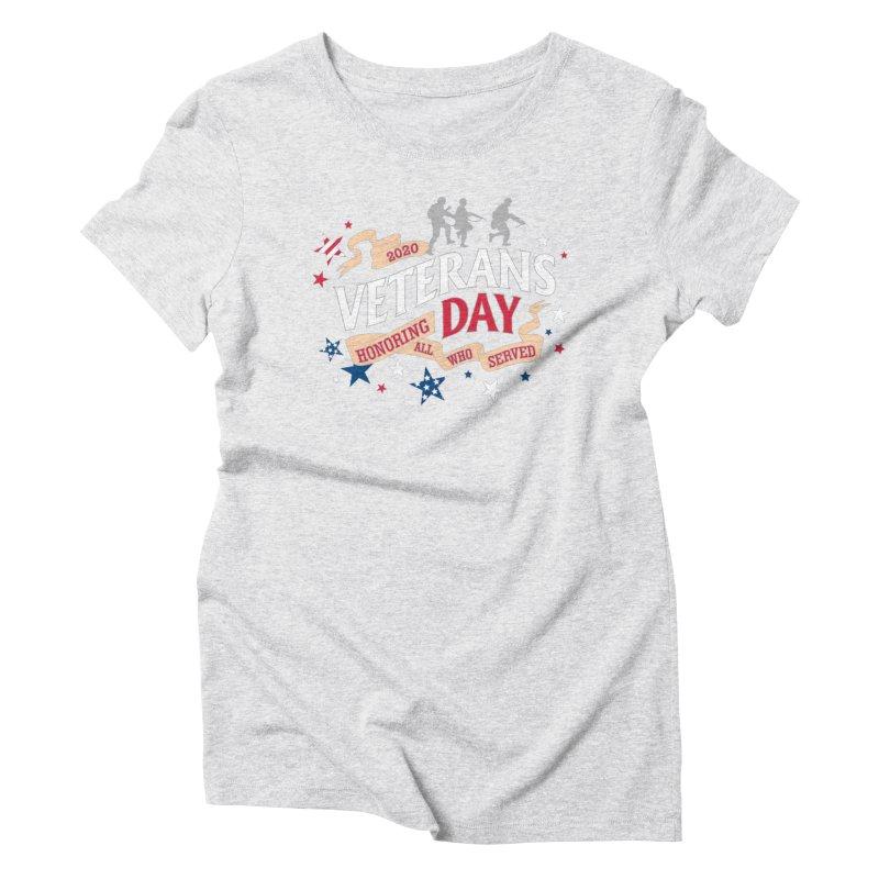 Veterans Day Women's Triblend T-Shirt by Moon Joggers's Artist Shop