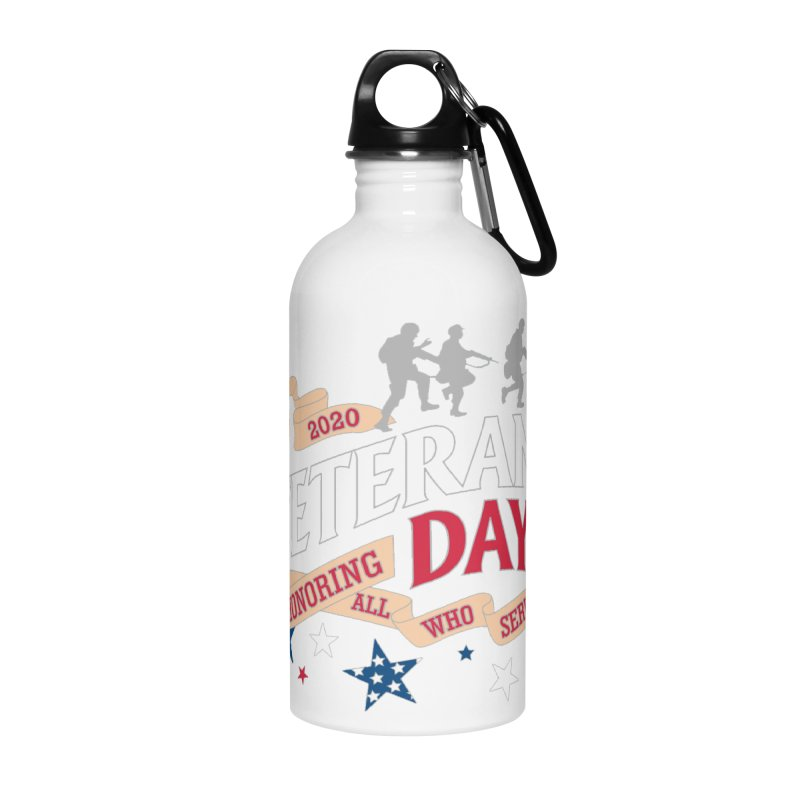 Veterans Day Accessories Water Bottle by Moon Joggers's Artist Shop